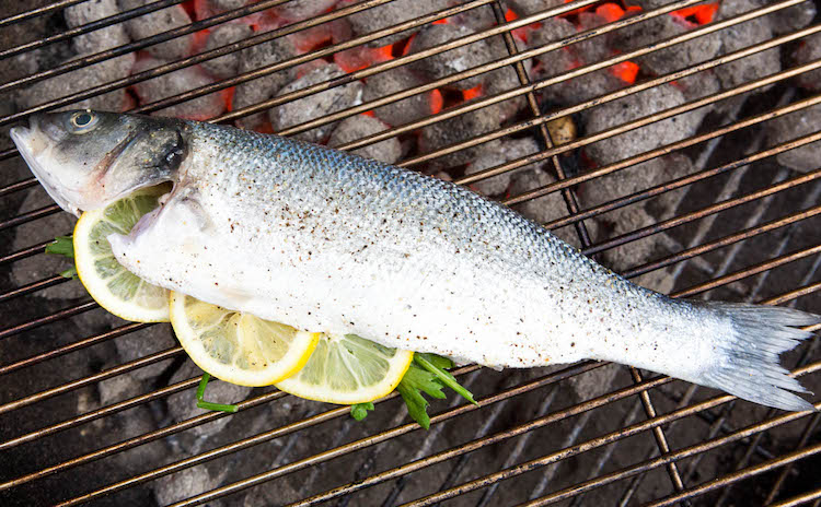 fish on the BBQ