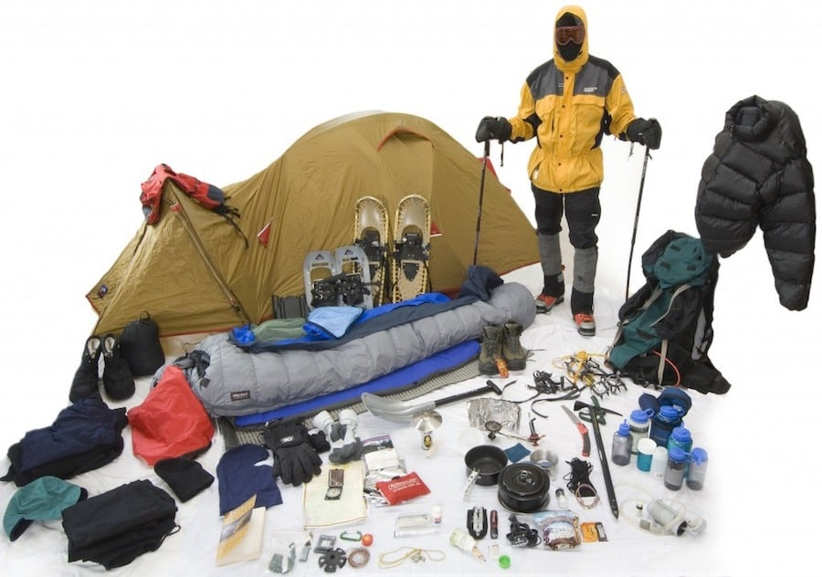 winter hiking gear