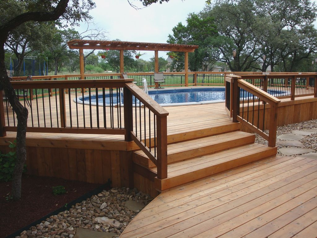 The Size Of The Above Ground Pool Deck