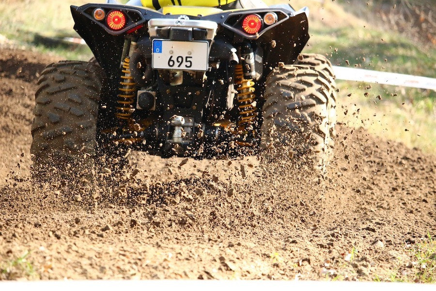 atv mud tires spinning