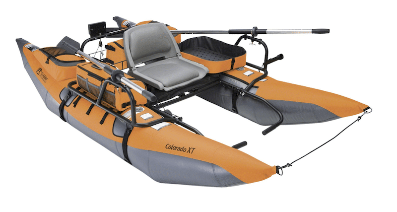 Inflatable Pontoon Boat with Transport wheel & Motor Mount