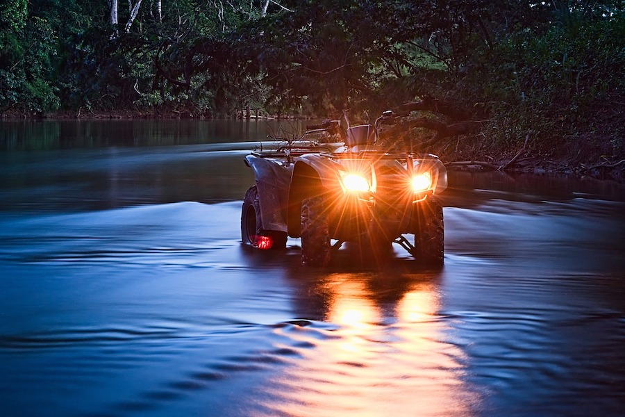 ATV in pond