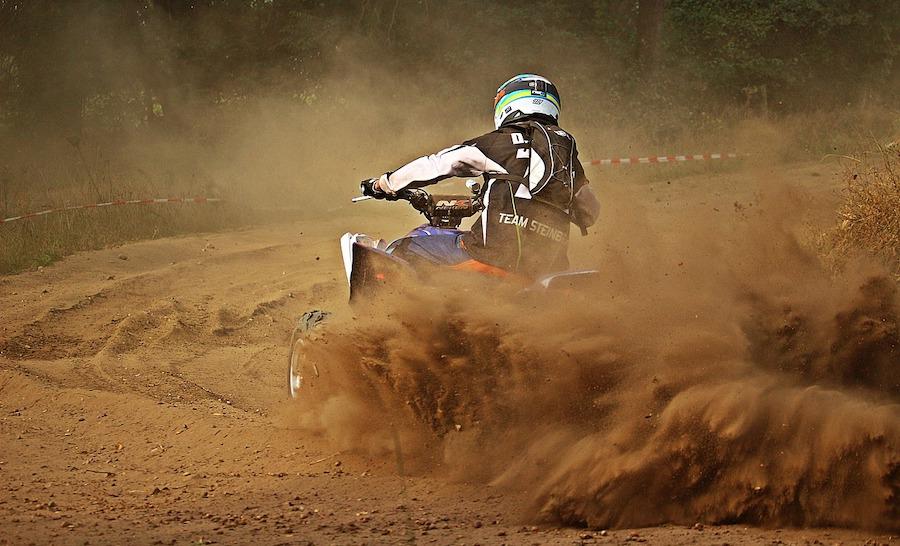 atv quad bike in the dust
