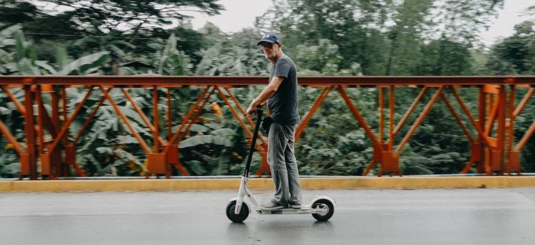 man on electric scooter