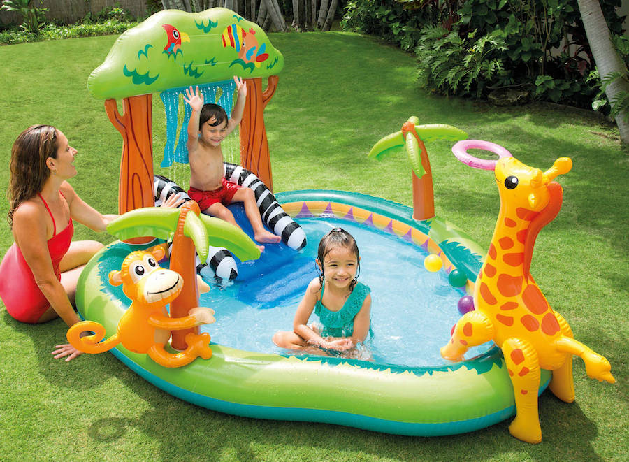 water slide and pool for toddlers