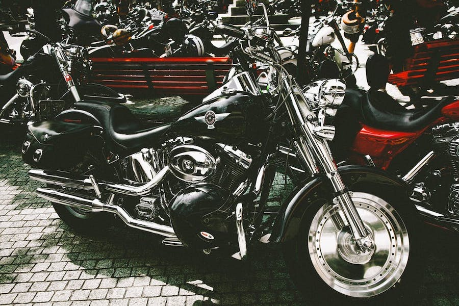 harley davidson with saddlebags