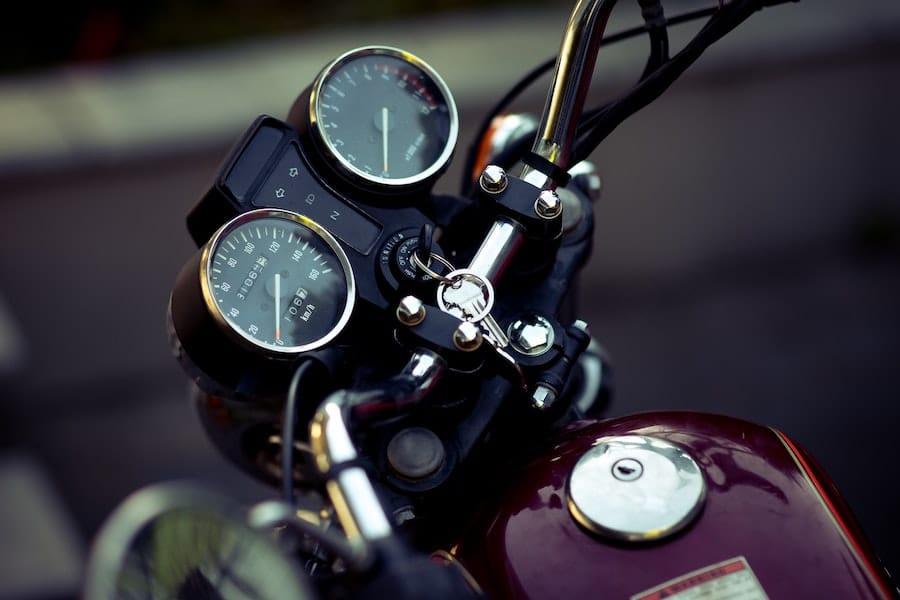 motorcycle tank and handlebars