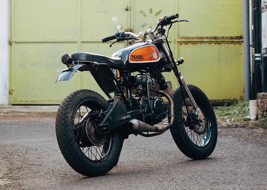 motorcycle wheel size