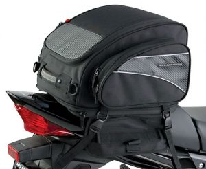 nelson rigg tail bag and motorcycle