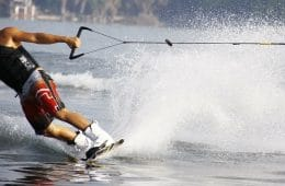 man on wakeboard