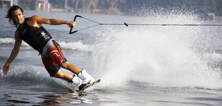 man on wakeboard