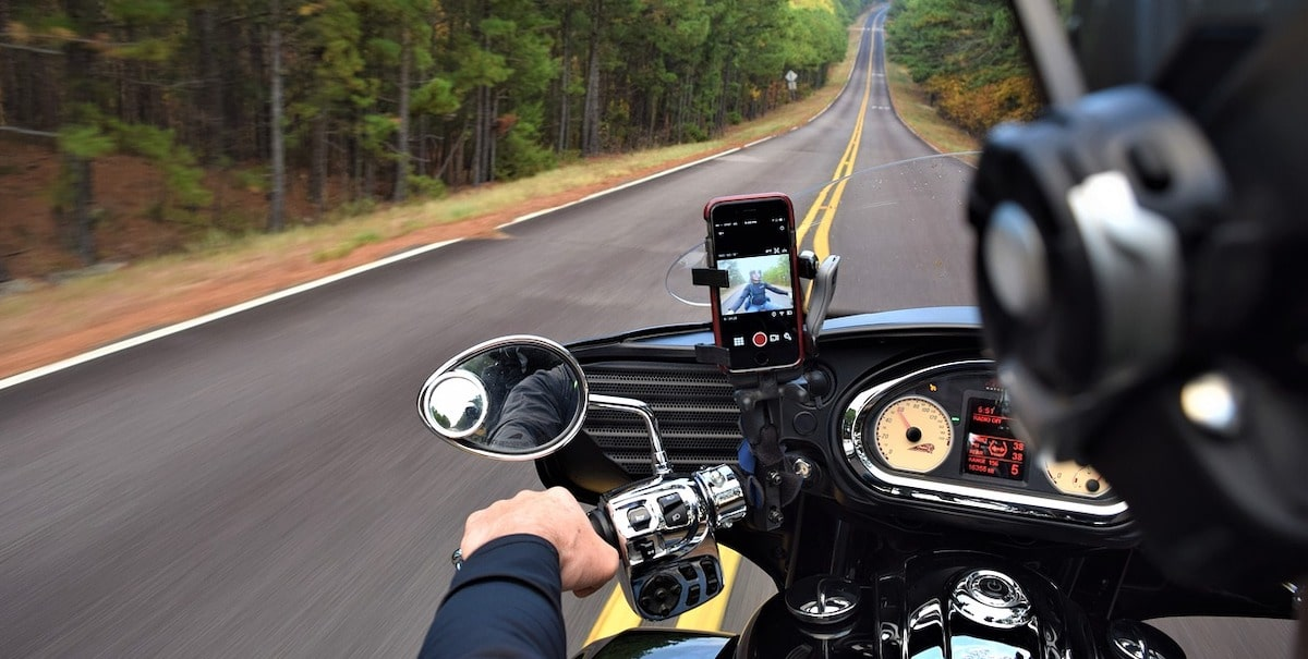 motorcycle intercom driving