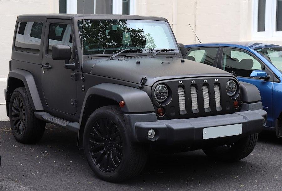 jeep wrangler matt black