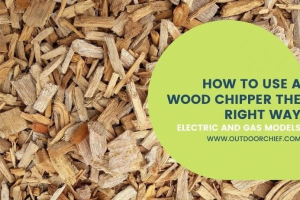 Using a wood chipper