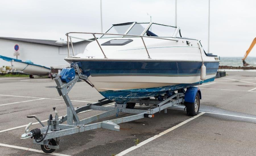 motoboat on trailer