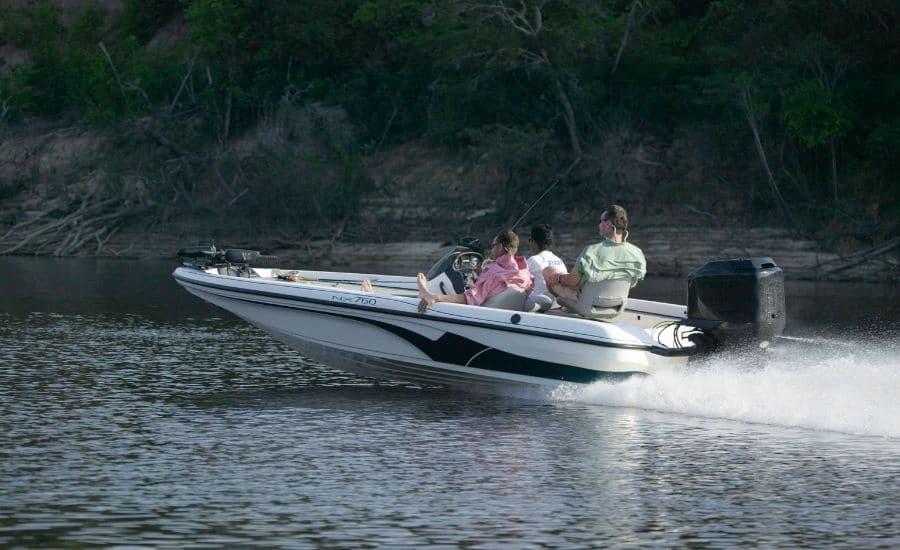 motoboat on water